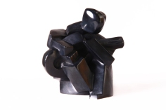 Sculpture cubisme bronze Guitariste