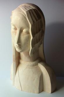 sculpture vierge art déco
